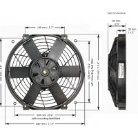 "14"" Brushless Thermatic® Fan (12 Volt)  (0140)"