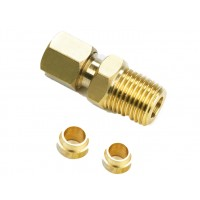 Compression Fitting ¼ NPT WITH 5 & 6MM Olive (0418)