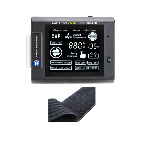 EWP & FAN Digital Controller + Velcro (12 & 24V) (8101)