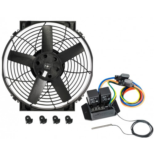 "14"" Brushless Thermatic® Fan + #0444 Switch (12 Volt)  (0025)"