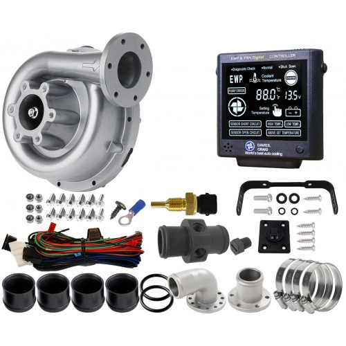 EWP130 Combo - 12V 141LPM/37GPM Remote Electric Water Pump & Controller (8990)